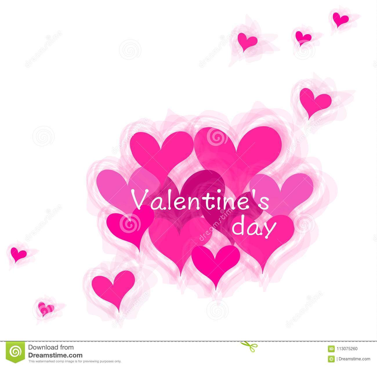 Heart and Valentine Word Images and Artwork.