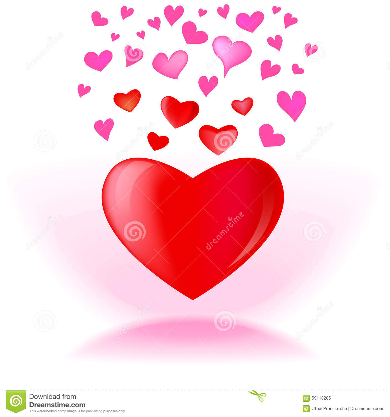 heart vector graphic design stock vector illustration of abstract