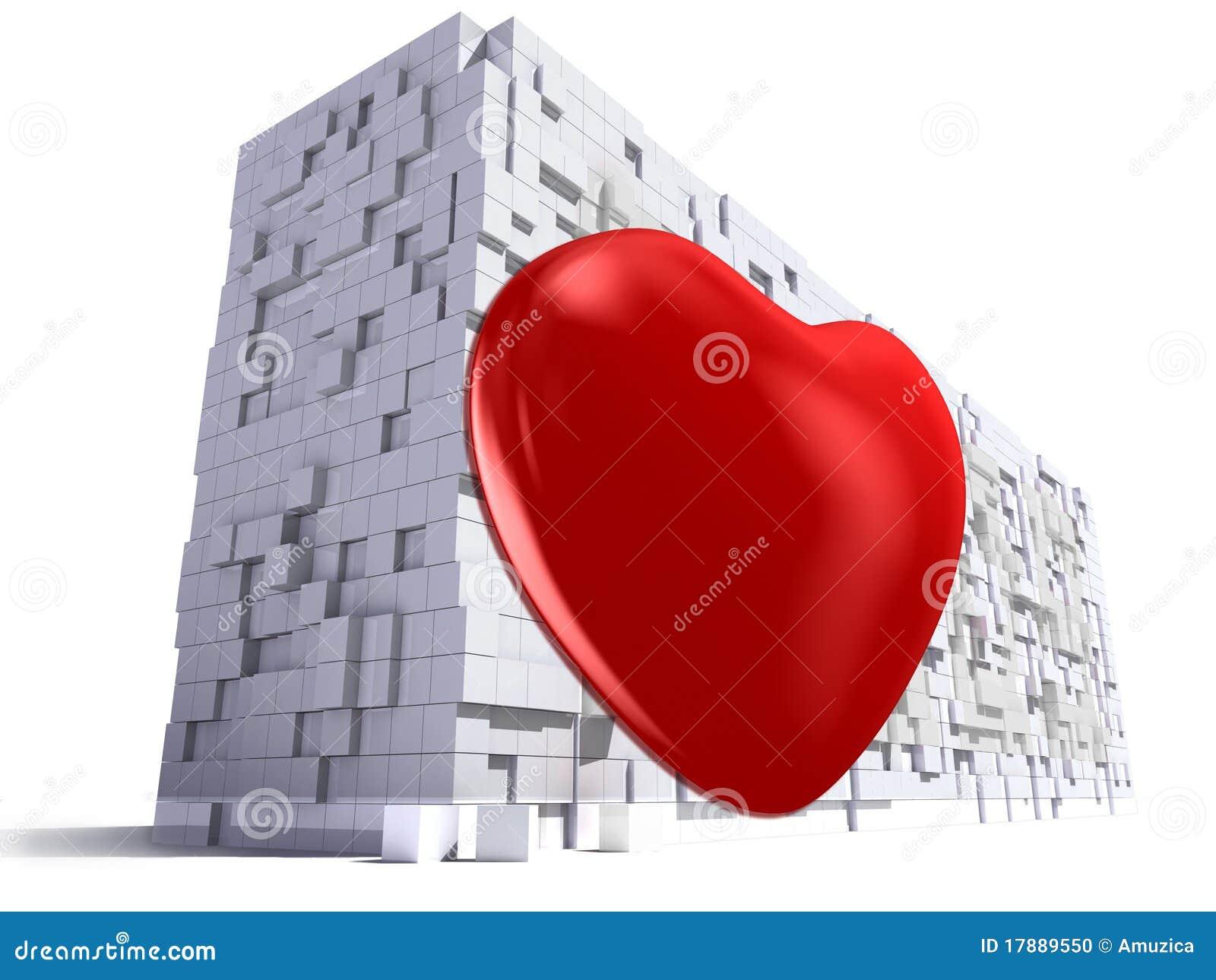Heart On Wall Stock Photo - Image: 17889550