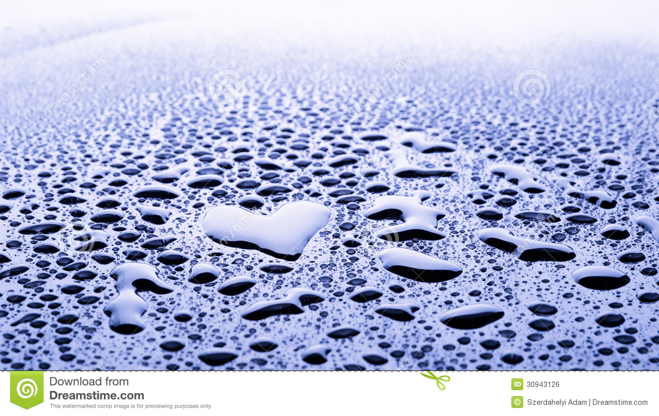 Heart Water Drop Stock Photo Image Of Photography Blue