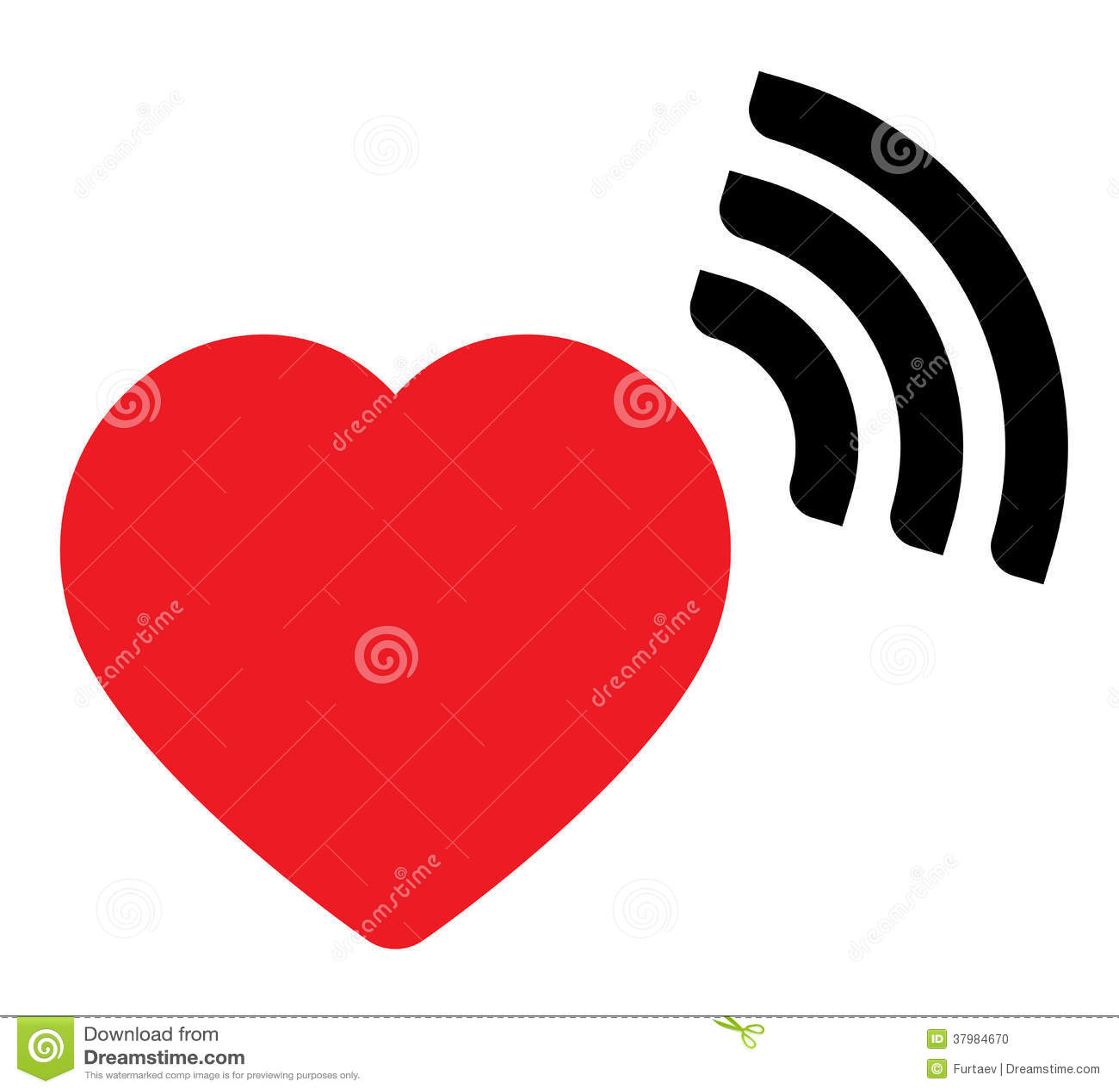 Heart Wave Icon Rhythm Illustrations Royalty Free