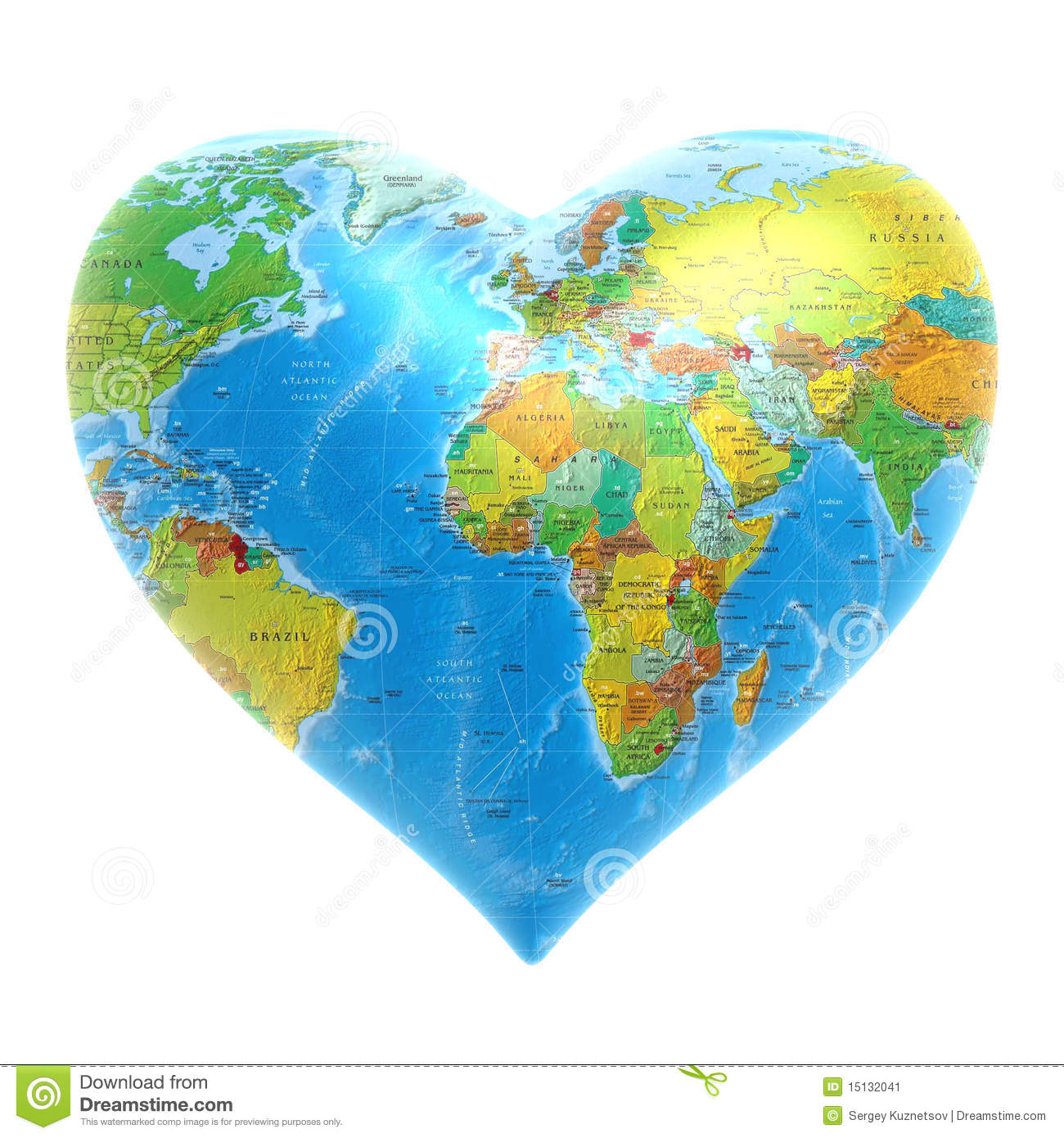 heart   world background stock image   image 15132041