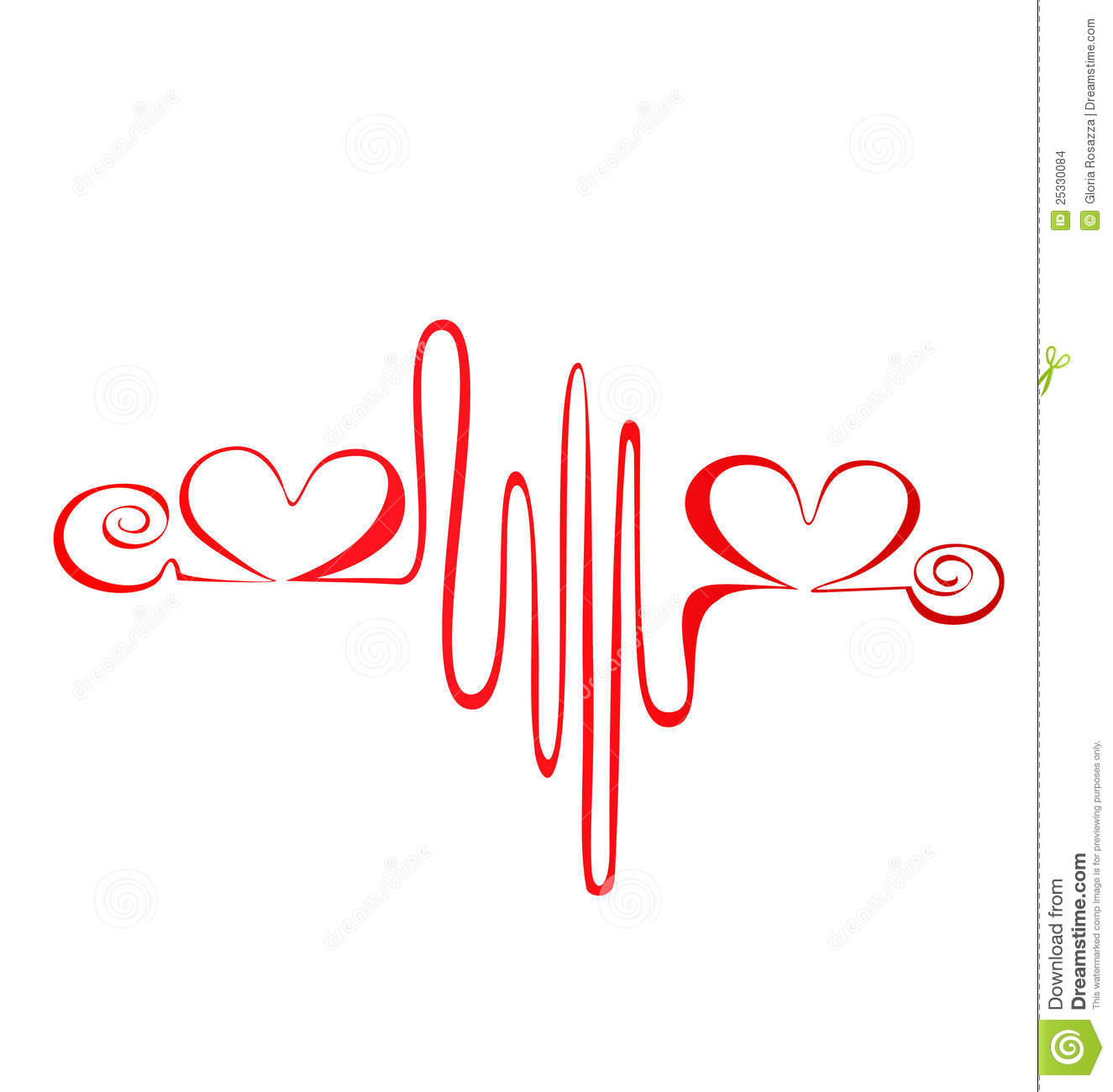 Heartbeat abstract red electroctrocardiogram logo vector eps10.
