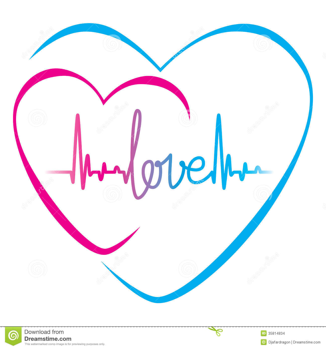 Heartbeat Love Text And Heart Symbol Stock Images - Image ...