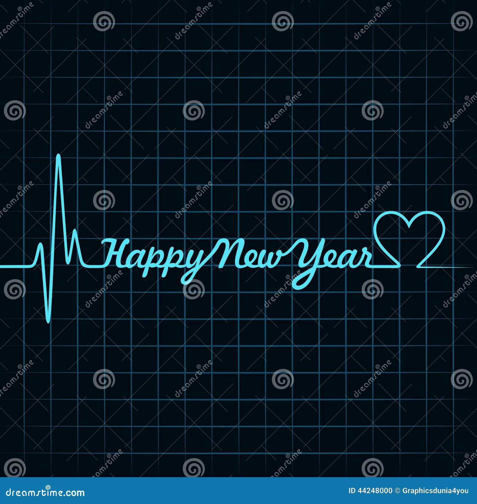 Heartbeat love text and heart symbol stock vector illustration heartbeat make happy new year text and heart symbol stock photo biocorpaavc