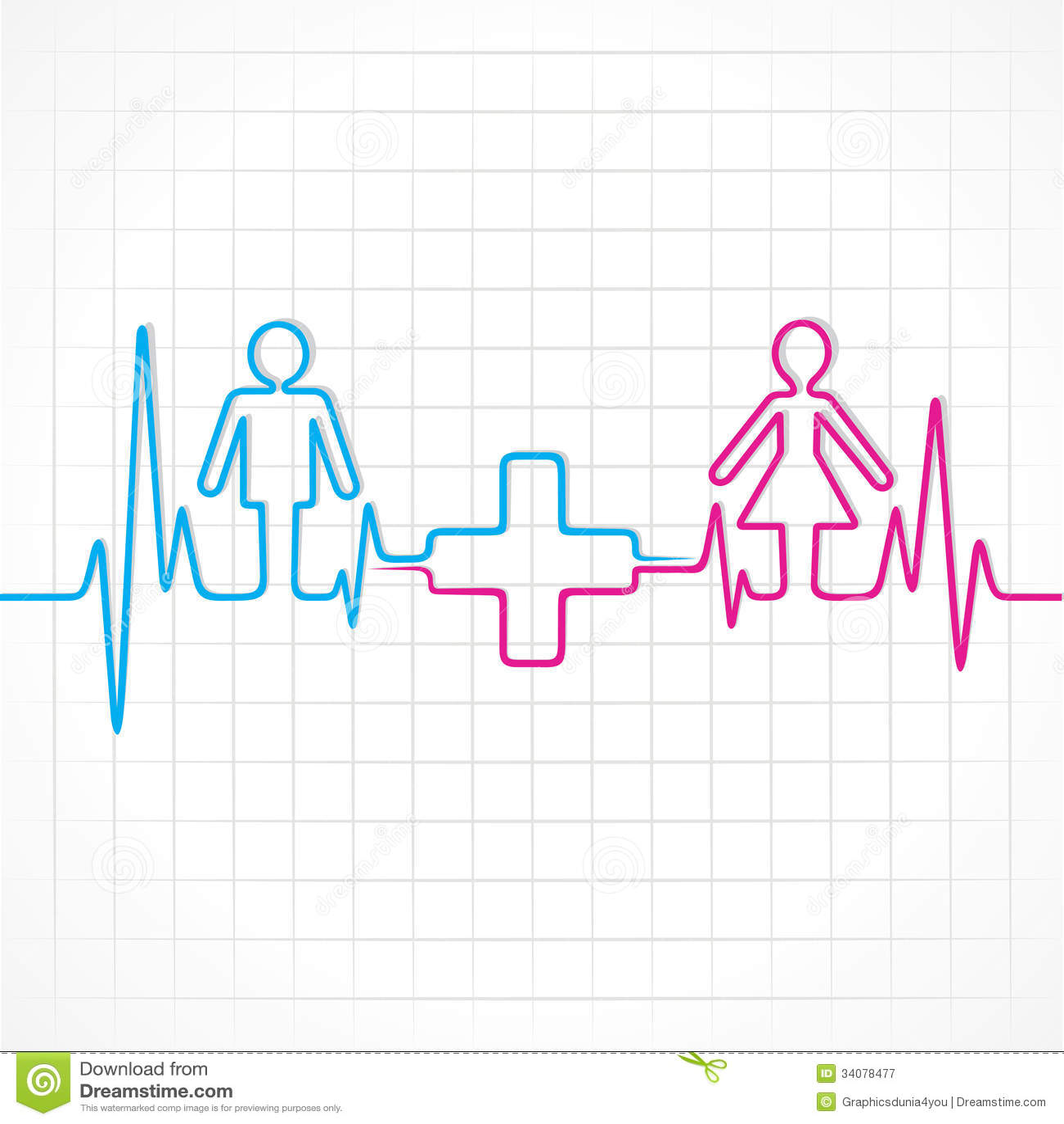 Heartbeat make malefemale and medical symbol stock vector heartbeat make malefemale and medical symbol buycottarizona Images