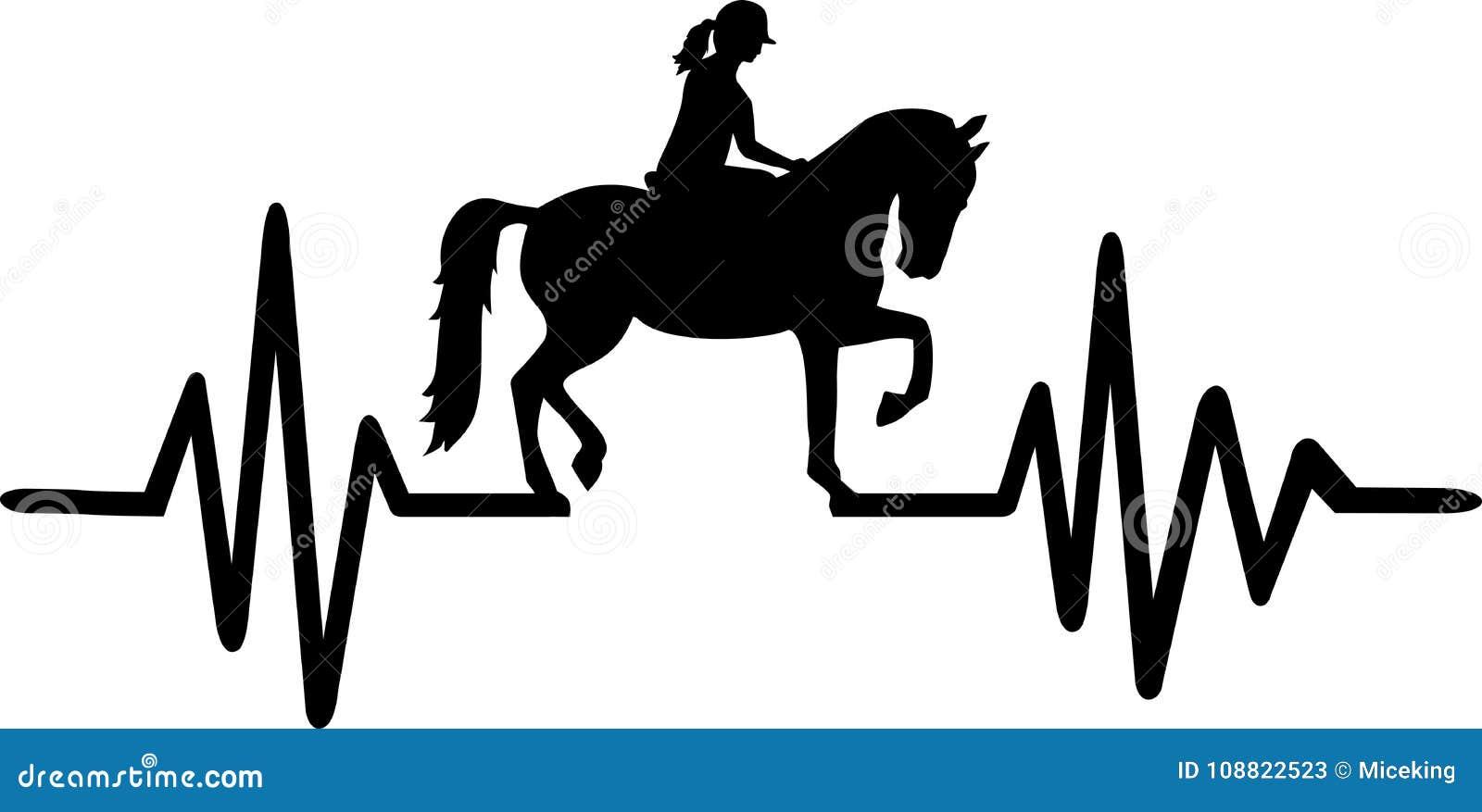 Riding Heartbeat Line German Stock Vector - Illustration of