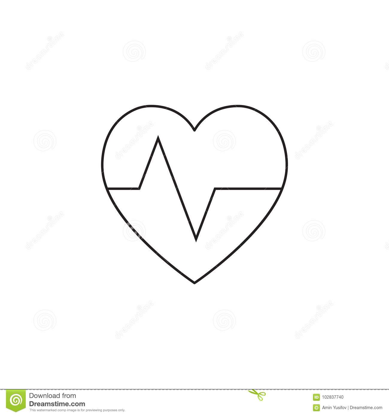 Heartbeat symbol heart beat pulse line icon outline vector log heartbeat symbol heart beat pulse line icon outline vector log buycottarizona Image collections