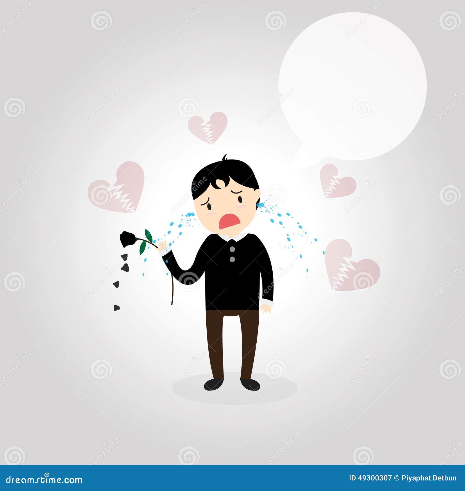 Heartbroken Stock Vector Illustration Of Sadly Heart 49300307