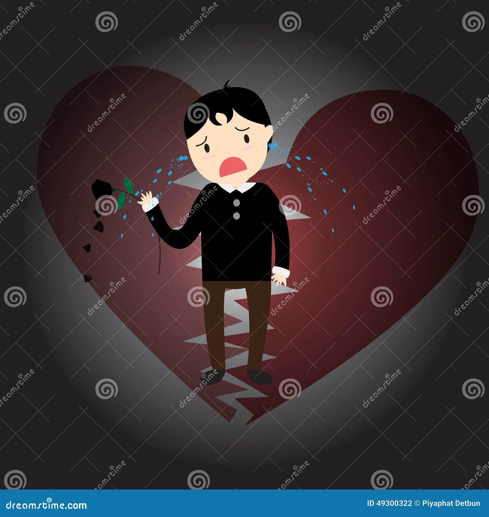 Heartbroken Stock Vector Illustration Of Romance Sadness 49300322
