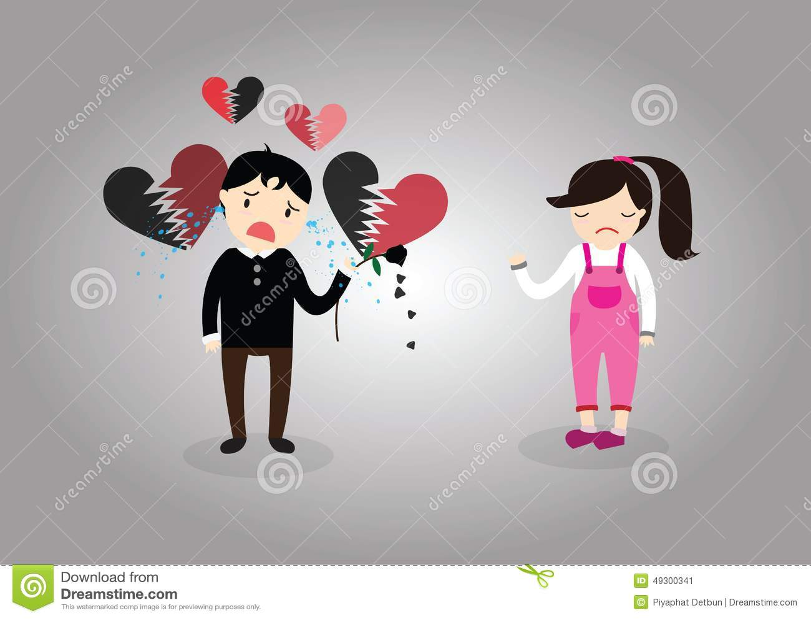 Heartbroken Illustration 49300341 Megapixl