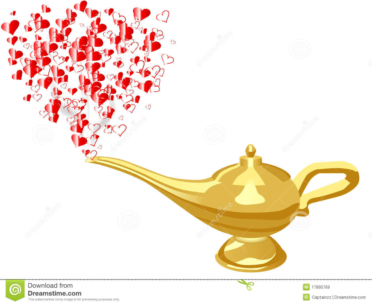Royalty Free Stock Images Hearts From Aladdin Lamp Image