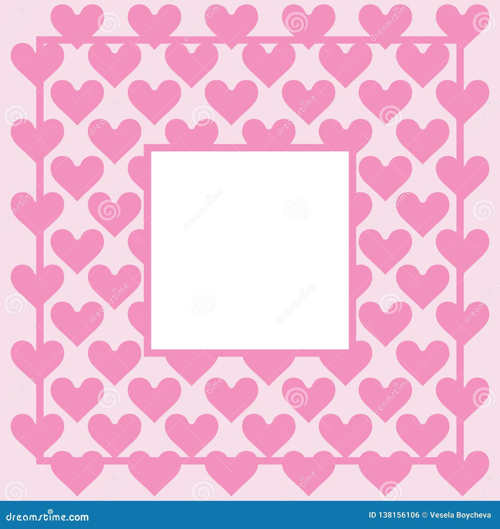 Hearts Background Pattern Hearts St Valentine