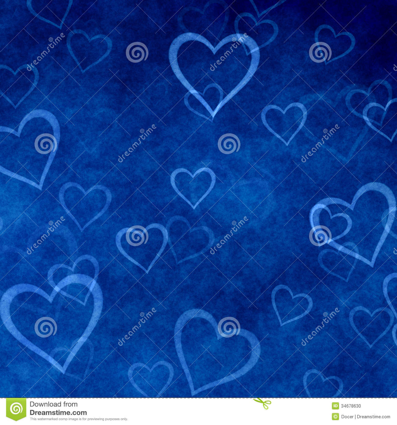 Blue Love Heart Background
