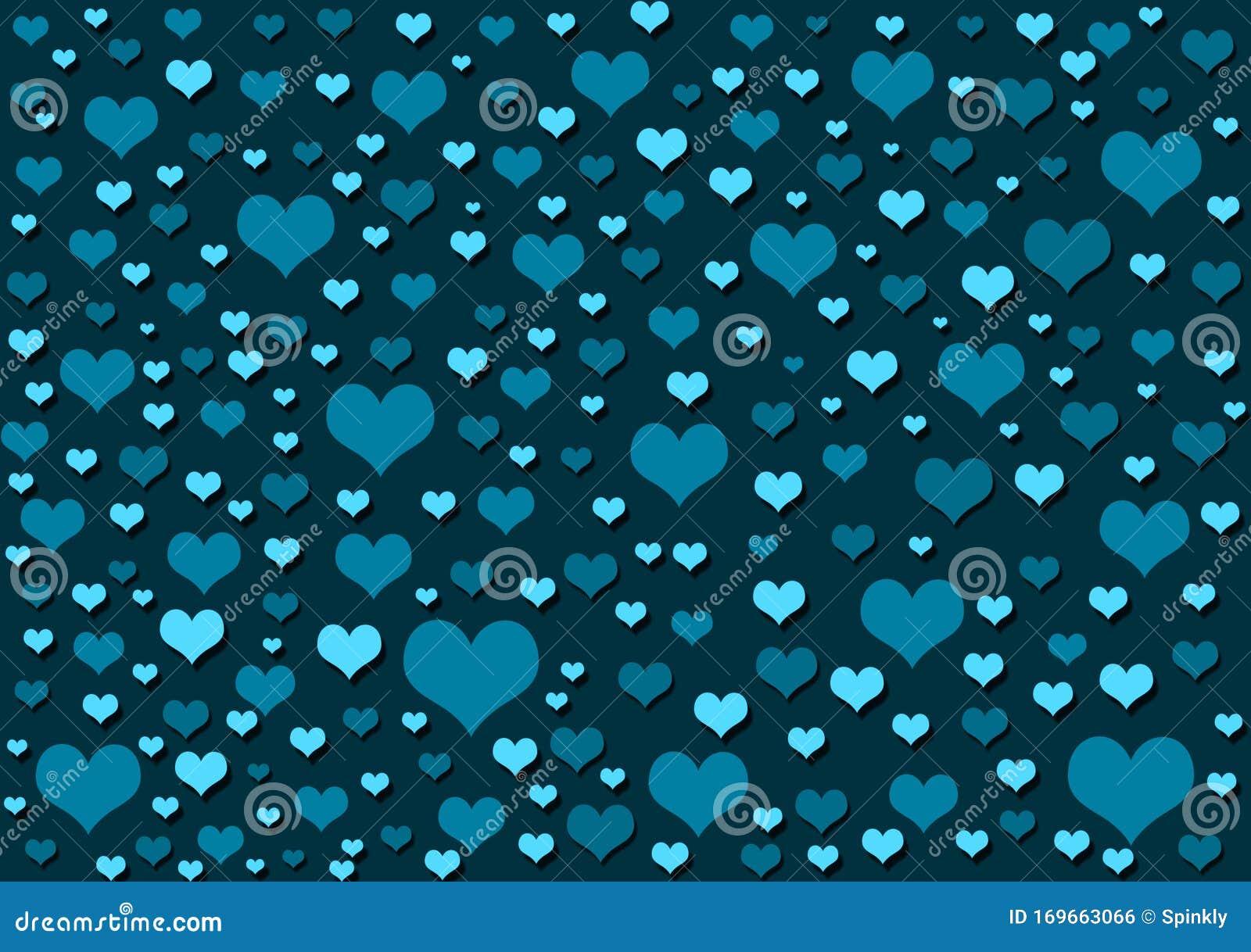 Hearts Blue Background Wallpaper Design Stock Illustration Illustration Of Color Colour 169663066