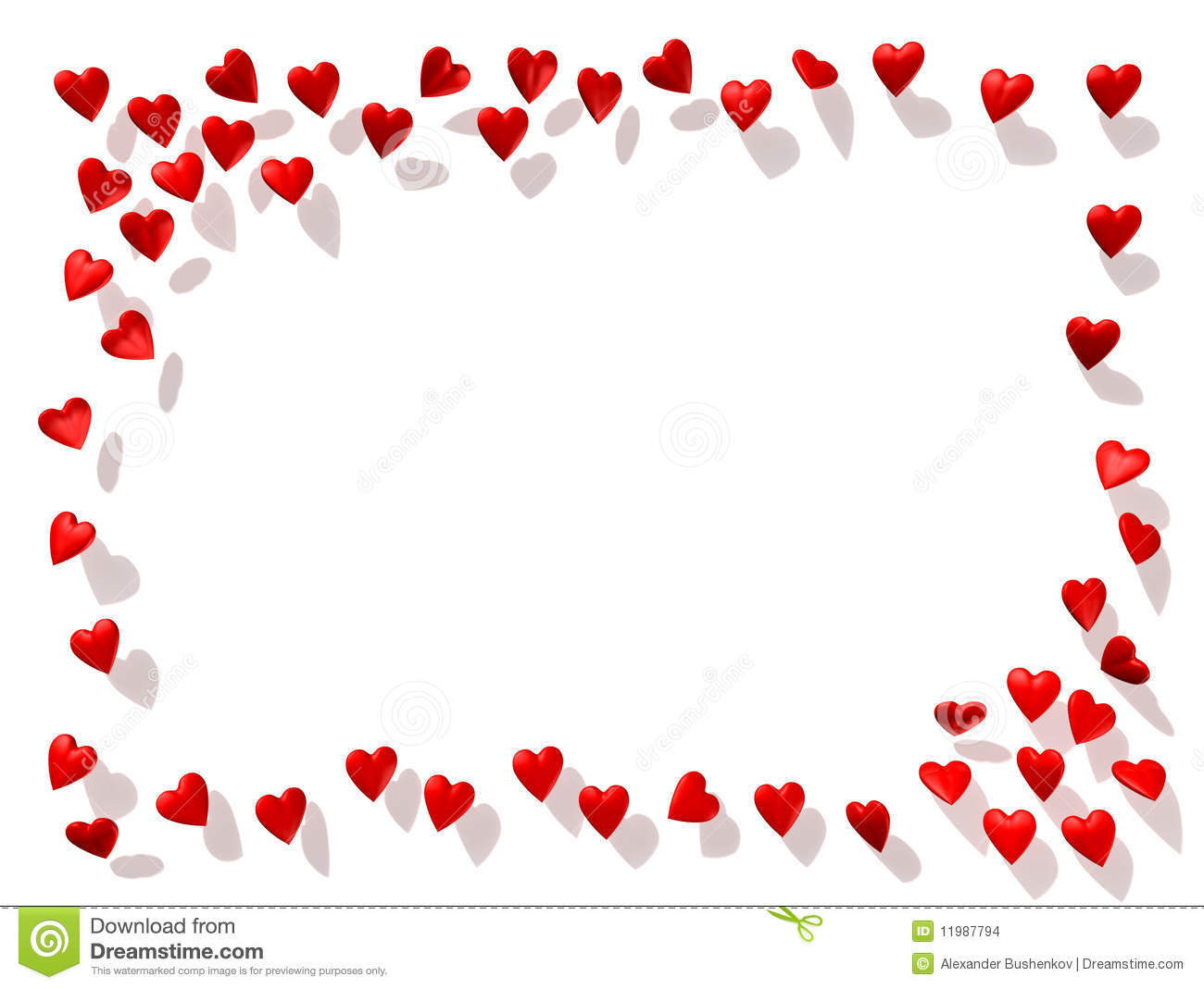 Hearts Border Stock Images - Image: 11987794