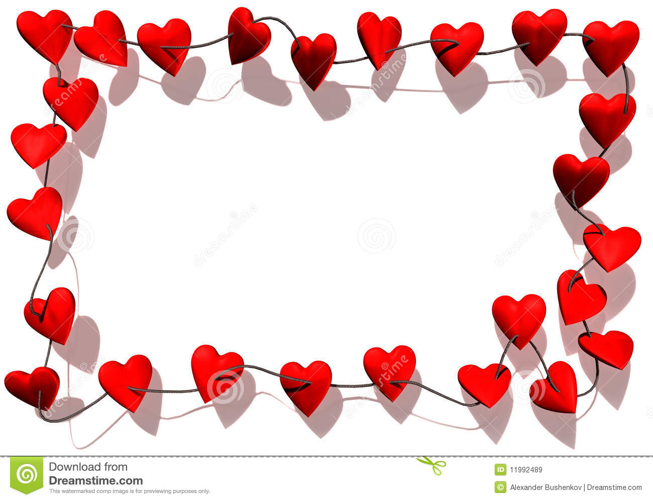 Hearts Border Royalty Free Stock Images - Image: 11992489