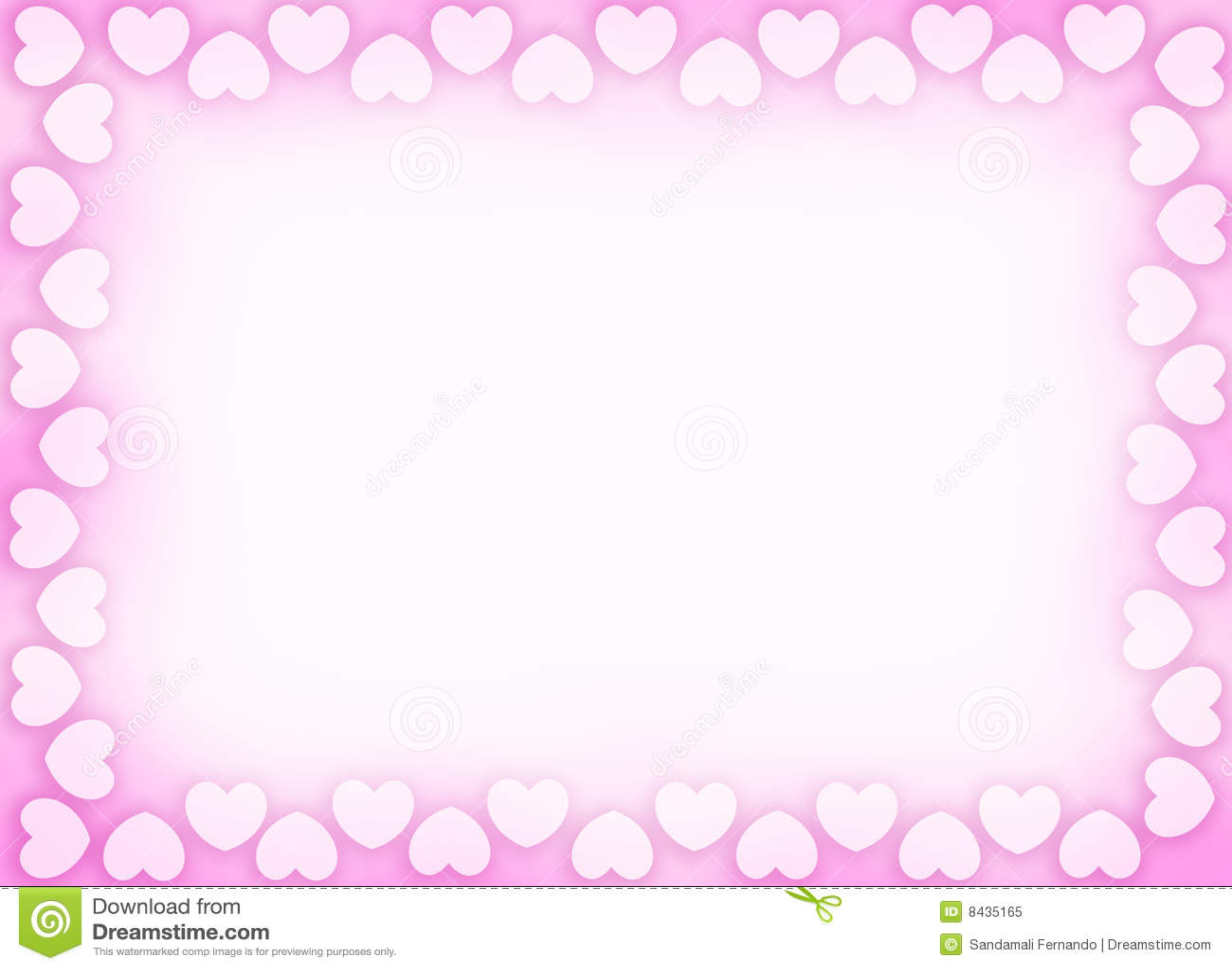 Hearts Border / Frame Royalty Free Stock Photo - Image: 8435165