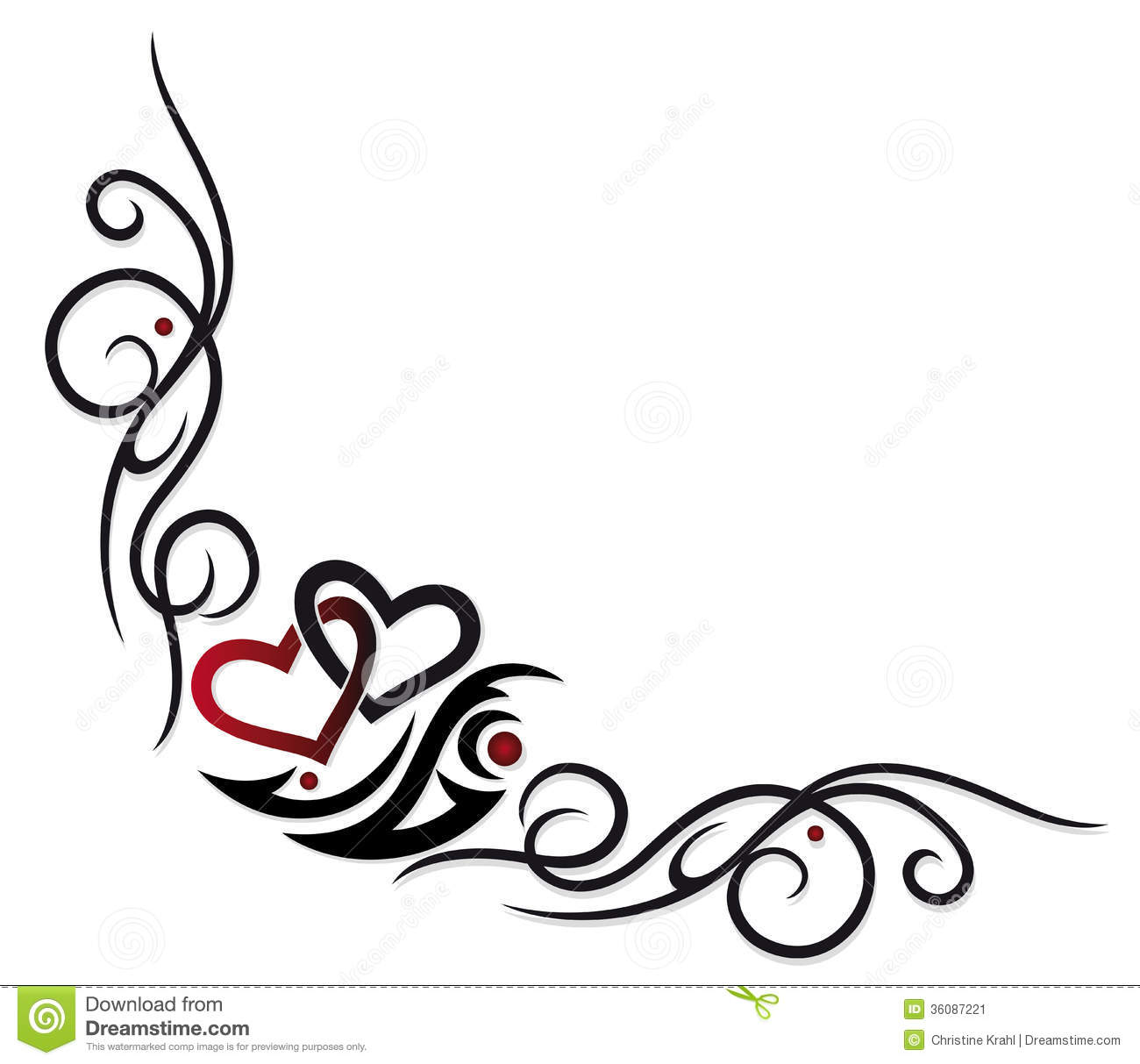 Valentines Day Hearts Border Clip Art - Viewing Gallery
