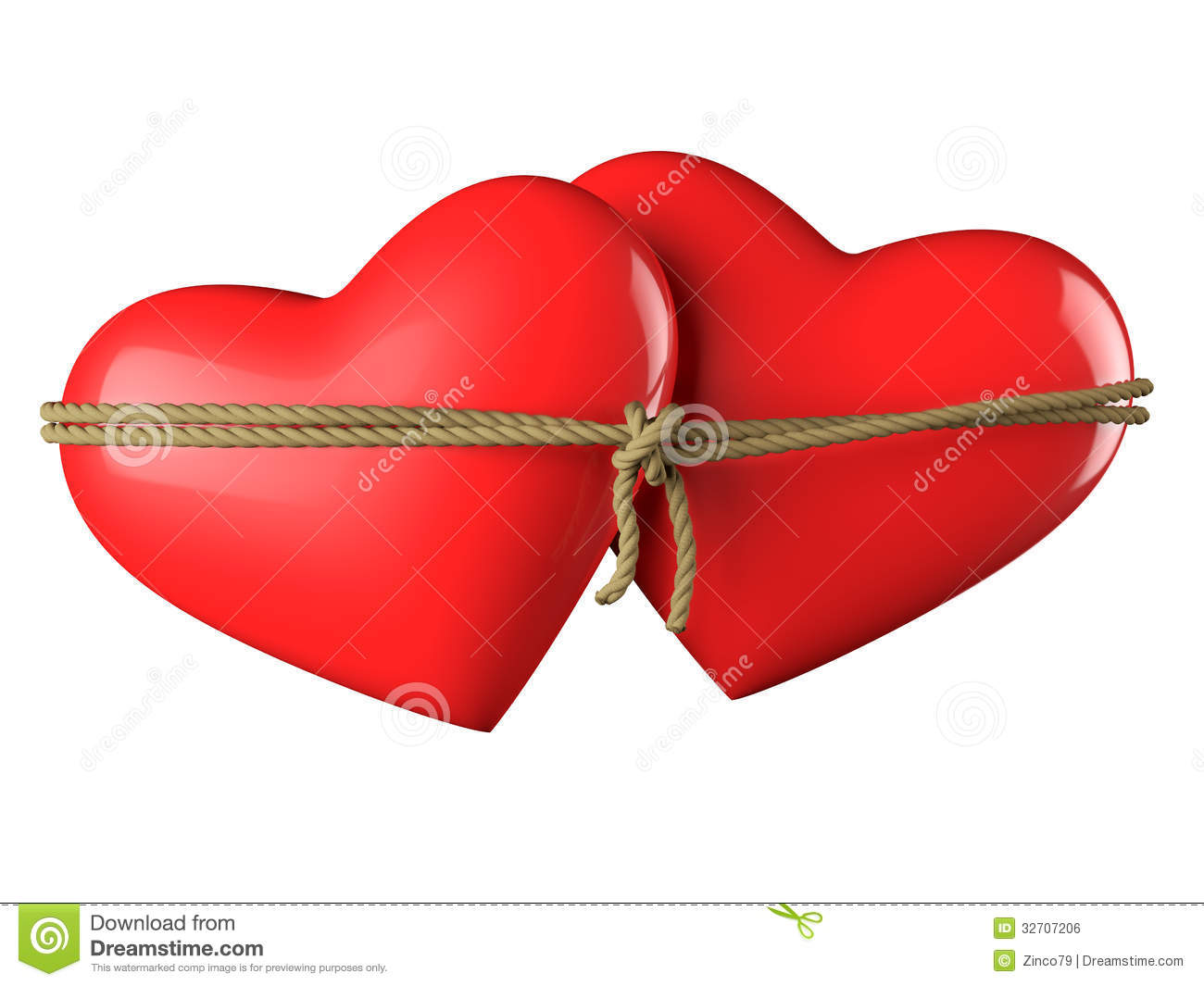 Hearts Bound Together Royalty Free Stock Image - Image ...