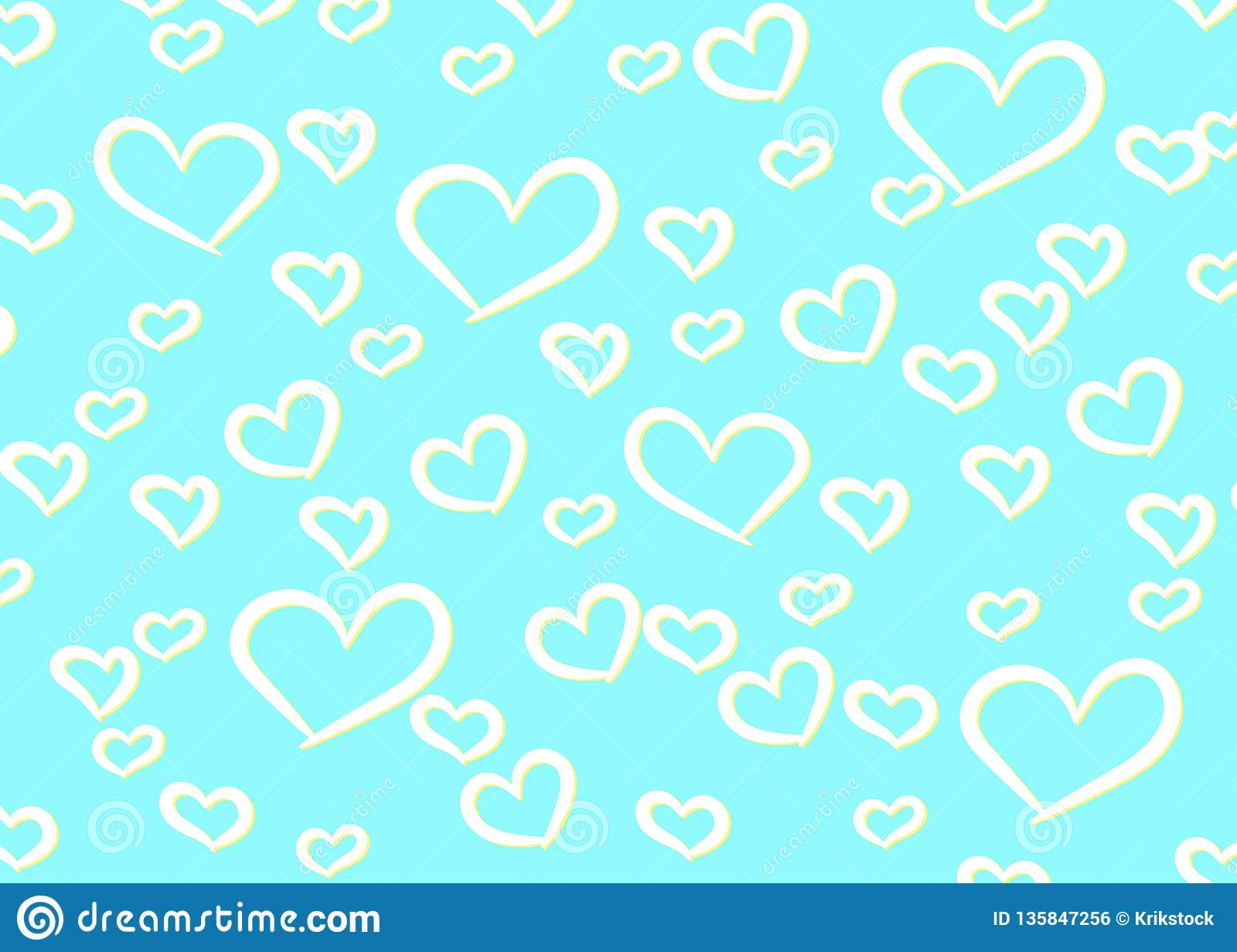 Hearts Design Background. Greeting Card Valentine Day. Vector illustration. Heart pattern. Falling Confetti. EPS 10.