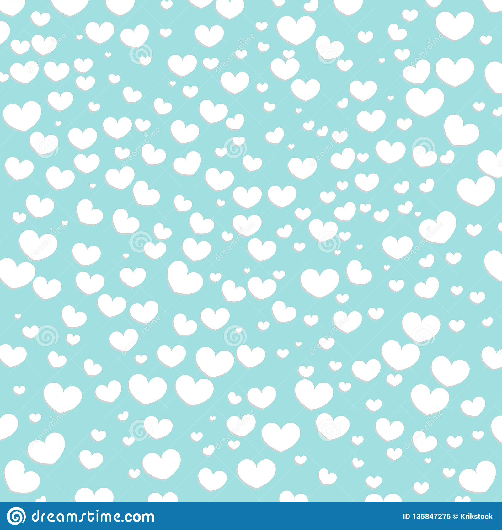 Hearts Design Background  Greeting Card Valentine Day