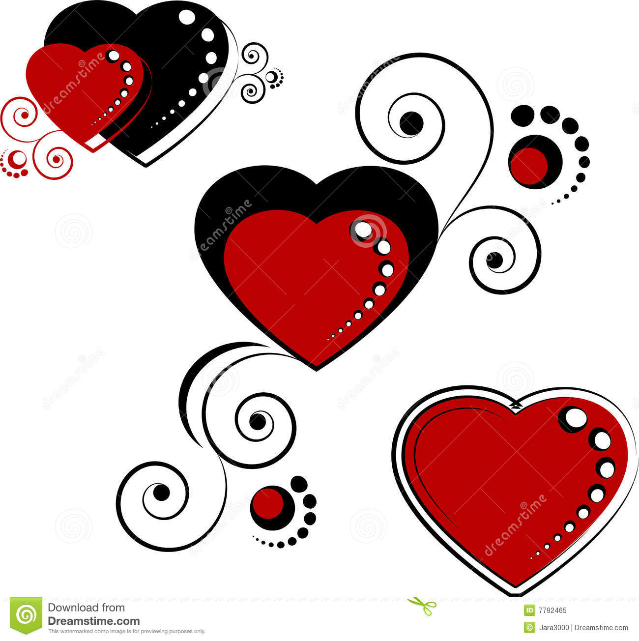 hearts design elements stock vector image of decoration
