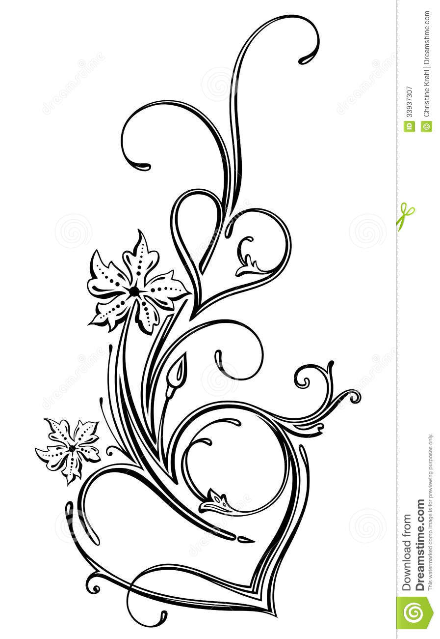 It is a graphic of Nerdy Drawing Of Hearts And Flowers