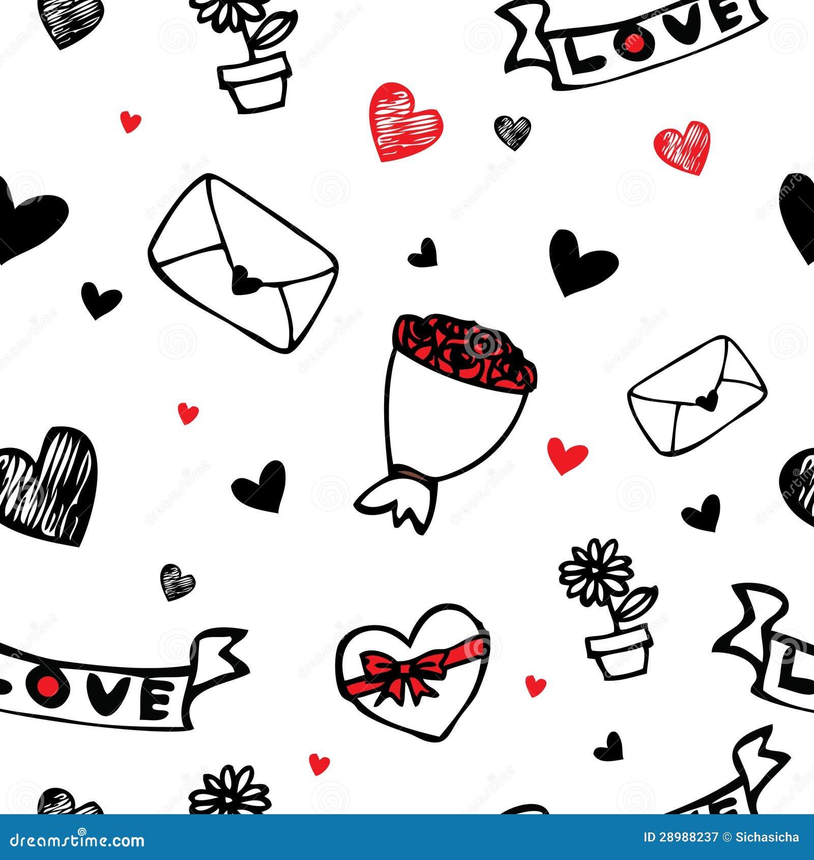 Hearts and flower symbol cartoon seamless background stock vector royalty free stock photo biocorpaavc Choice Image