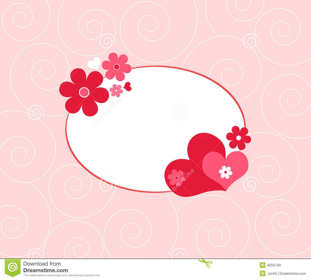 Hearts And Flowers Stock Image