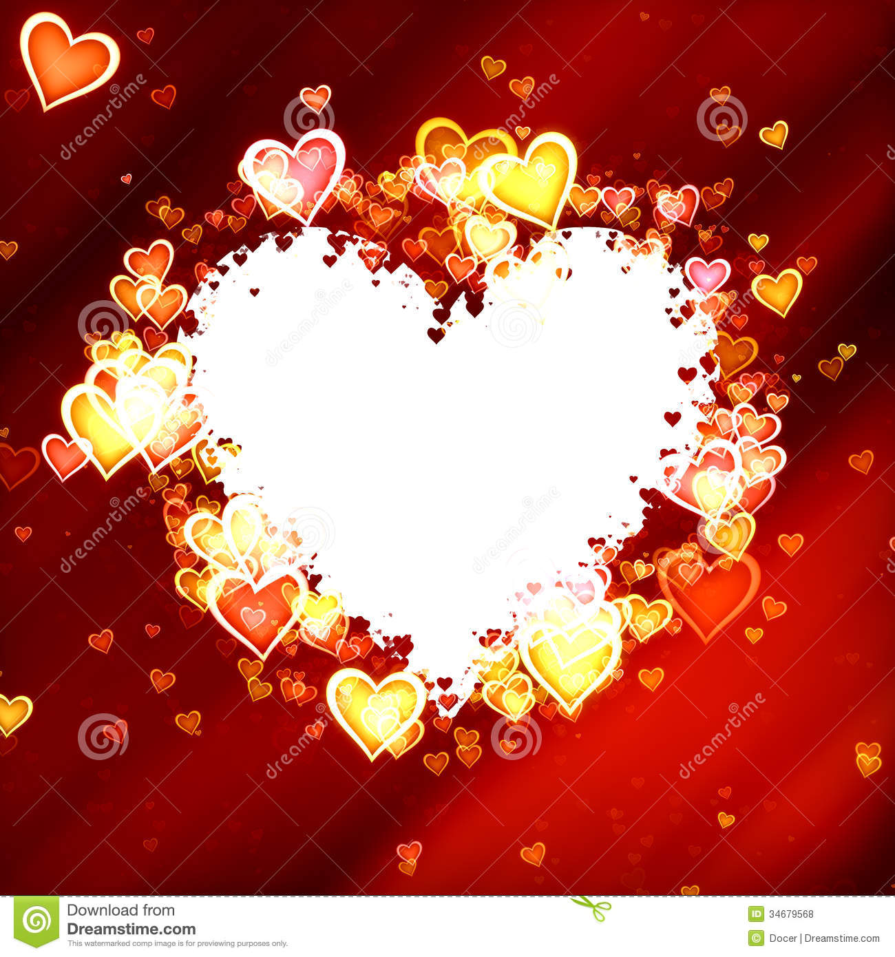 Hearts Frame Of Valentines Day With Clipping Path Love Texture