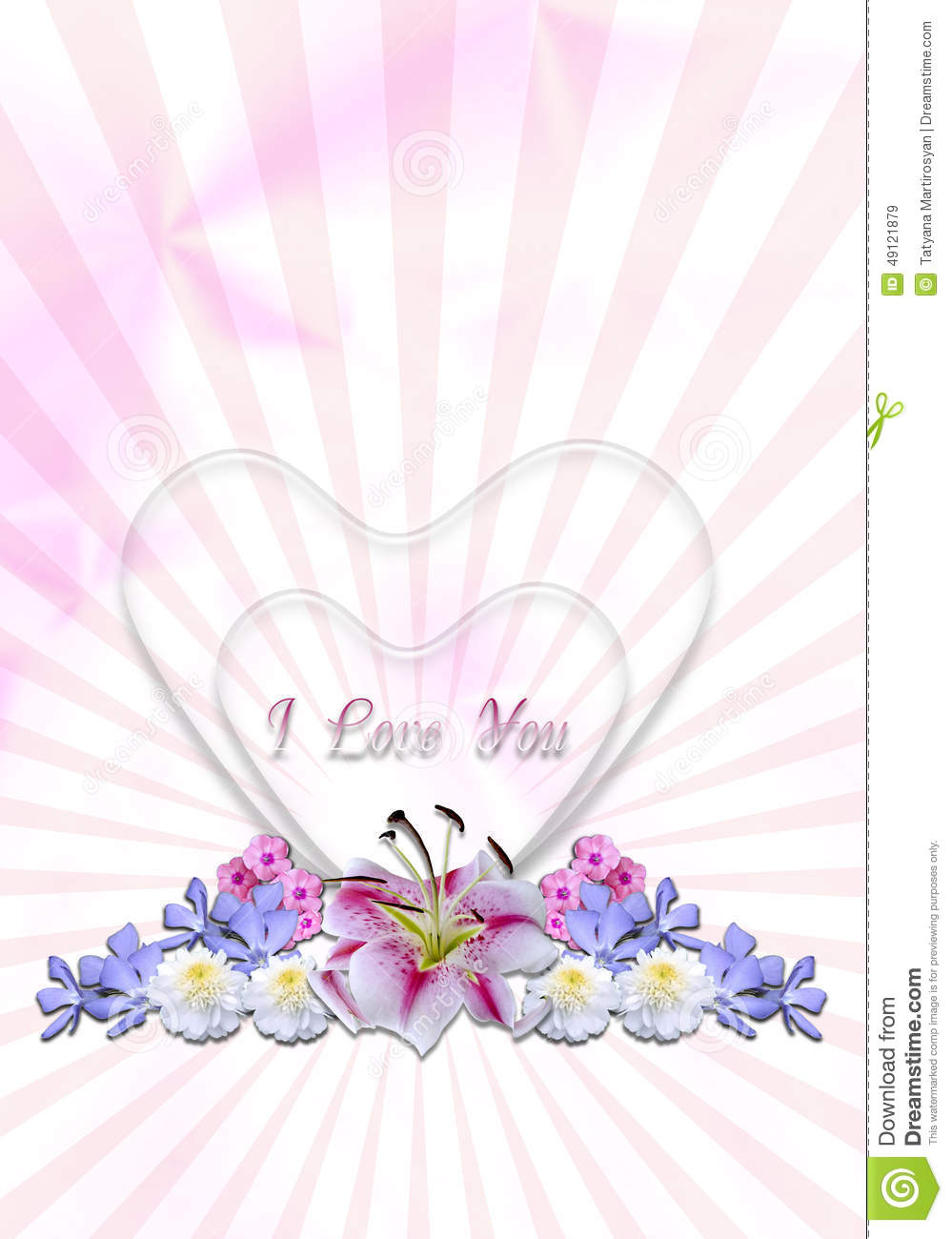 Hearts With Garlands Of Flowers In Radiant Background Stock