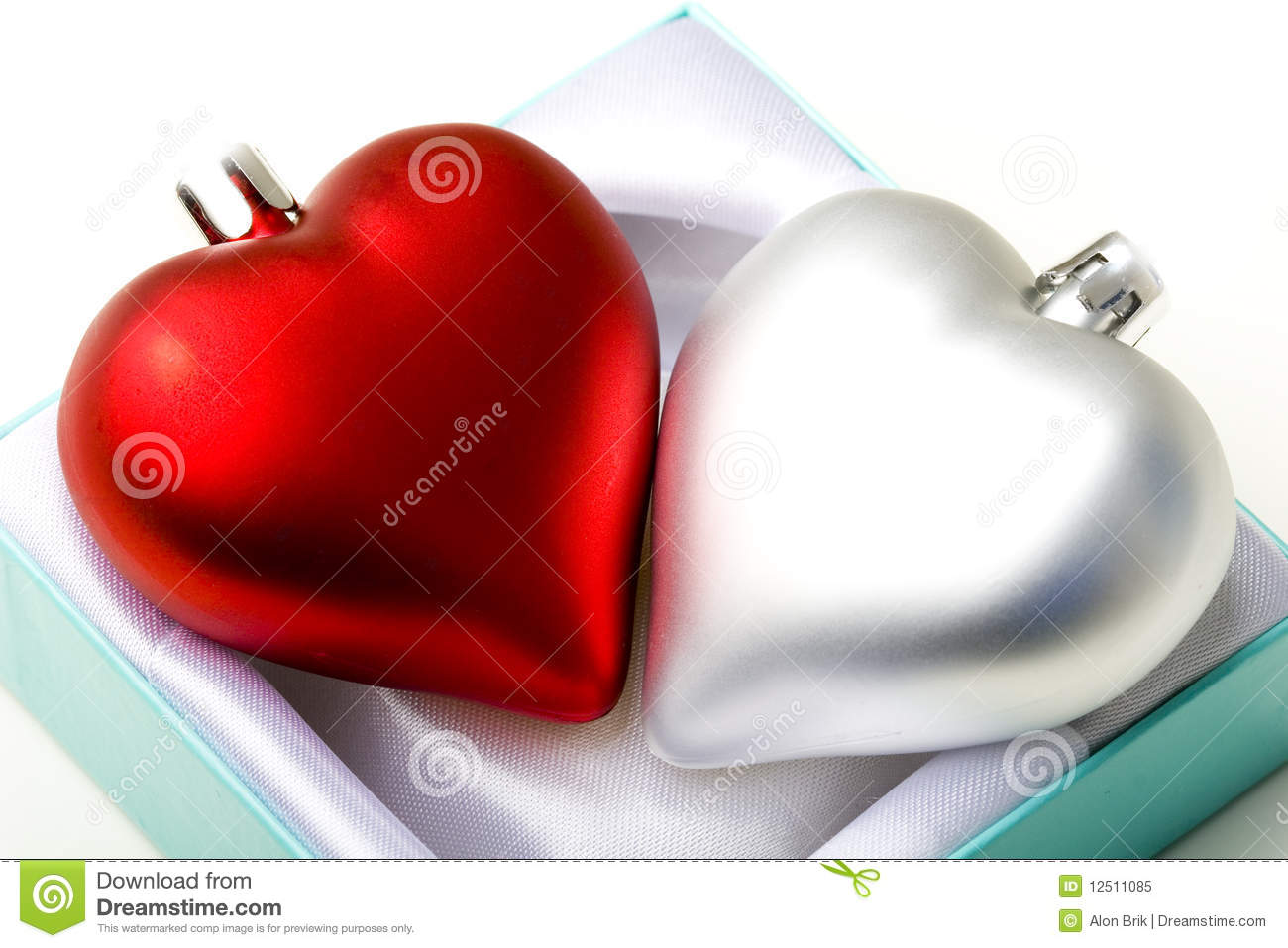 Hearts in gift box emotional love symbol Valentine