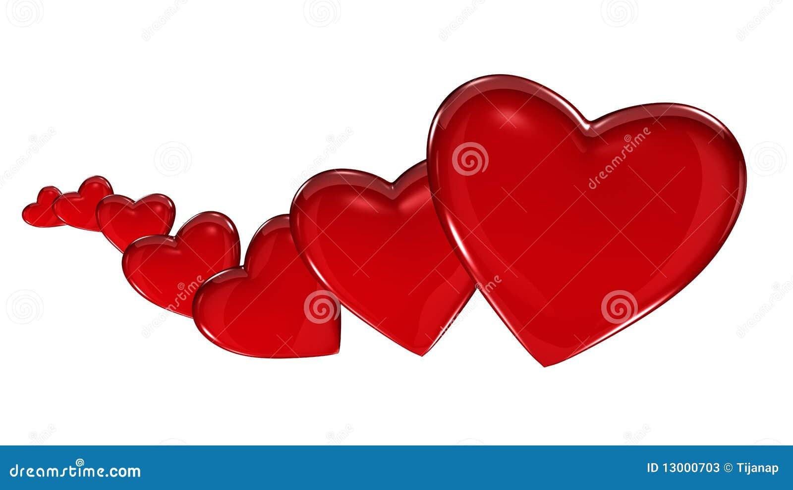 Hearts Growing Horizontal Stock Photos Image 13000703