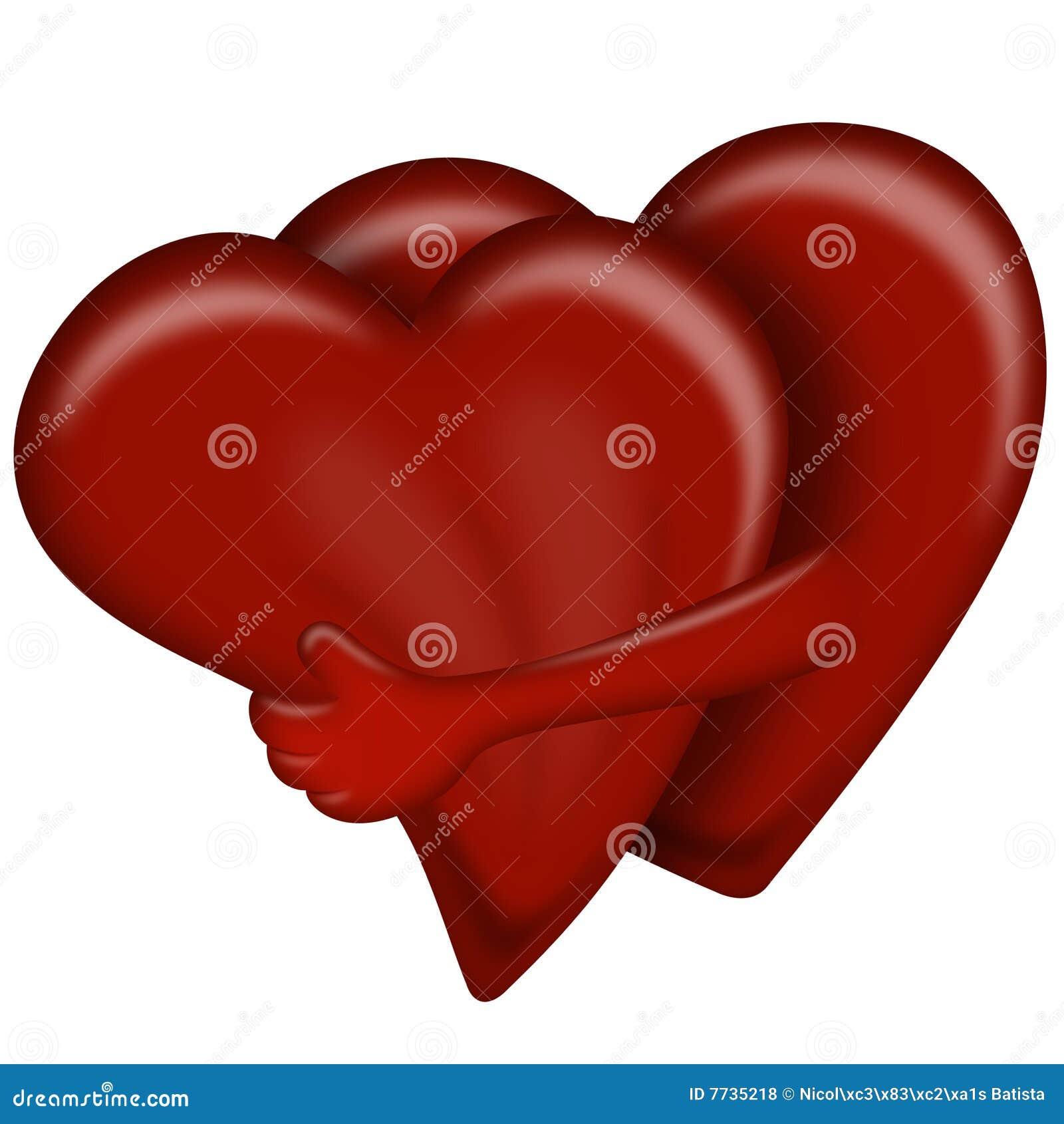 Hearts Hugging Royalty Free Stock Photos Image 7735218