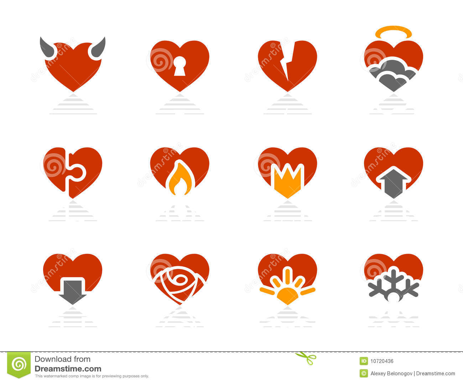 Hearts icons | Sunshine Hotel series