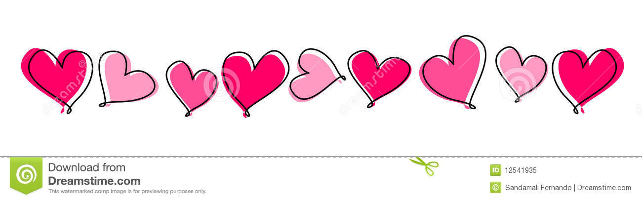Clip Art Line Of Hearts : Hearts line divider royalty free stock photo image