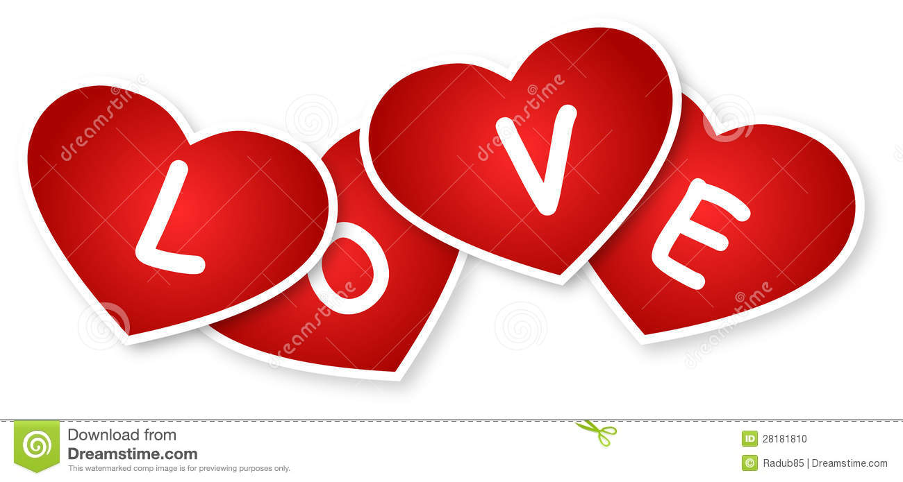 Hearts And Love Sign stock illustration  Illustration of