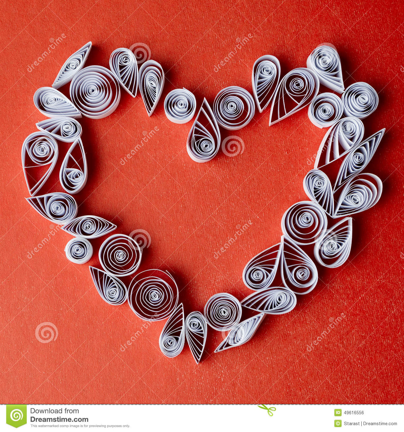 Hearts Of Paper Quilling For Valentine S Day Stock Photo Image Of