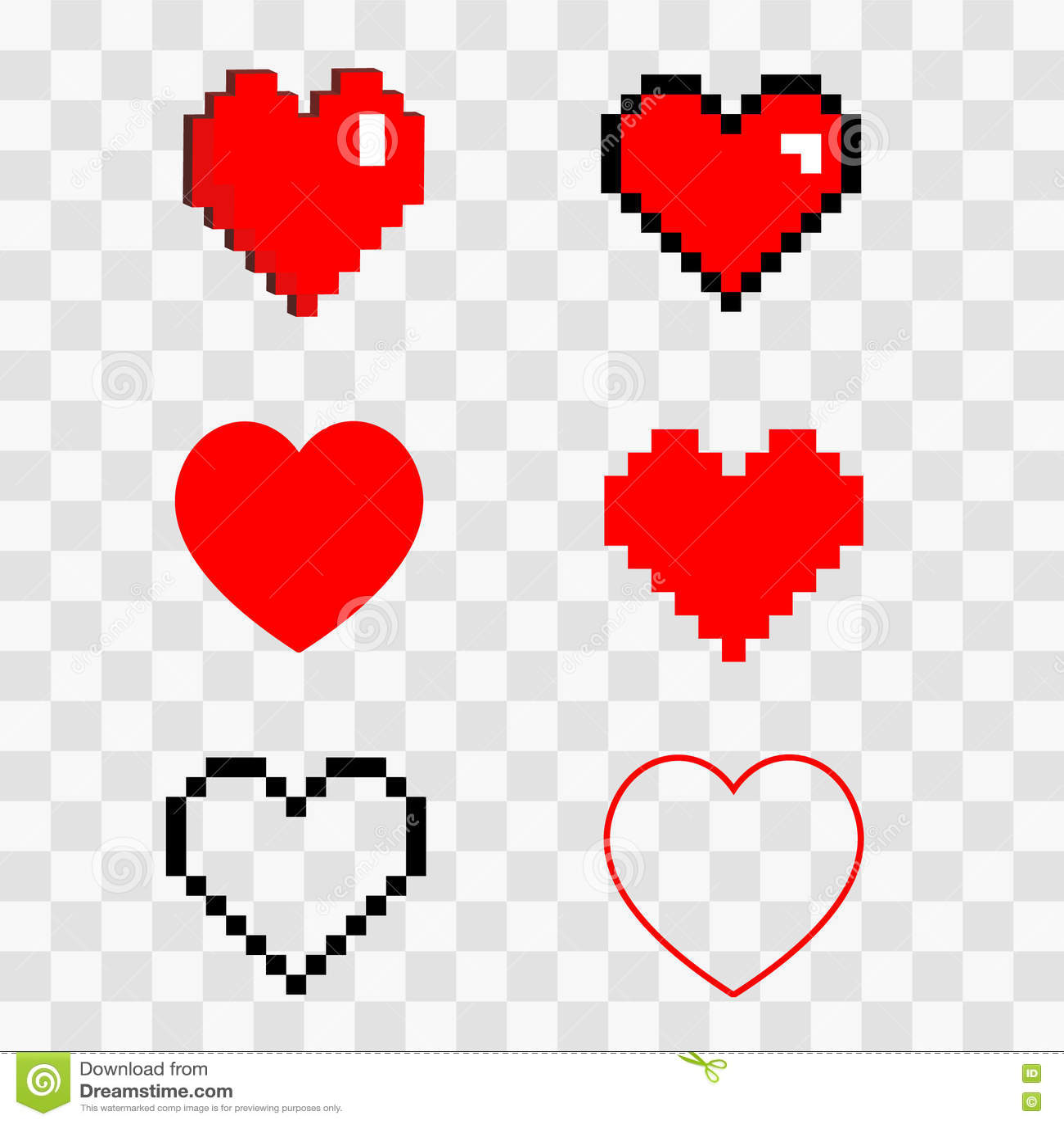 8 bit heart free vector download 4603 Free vector for