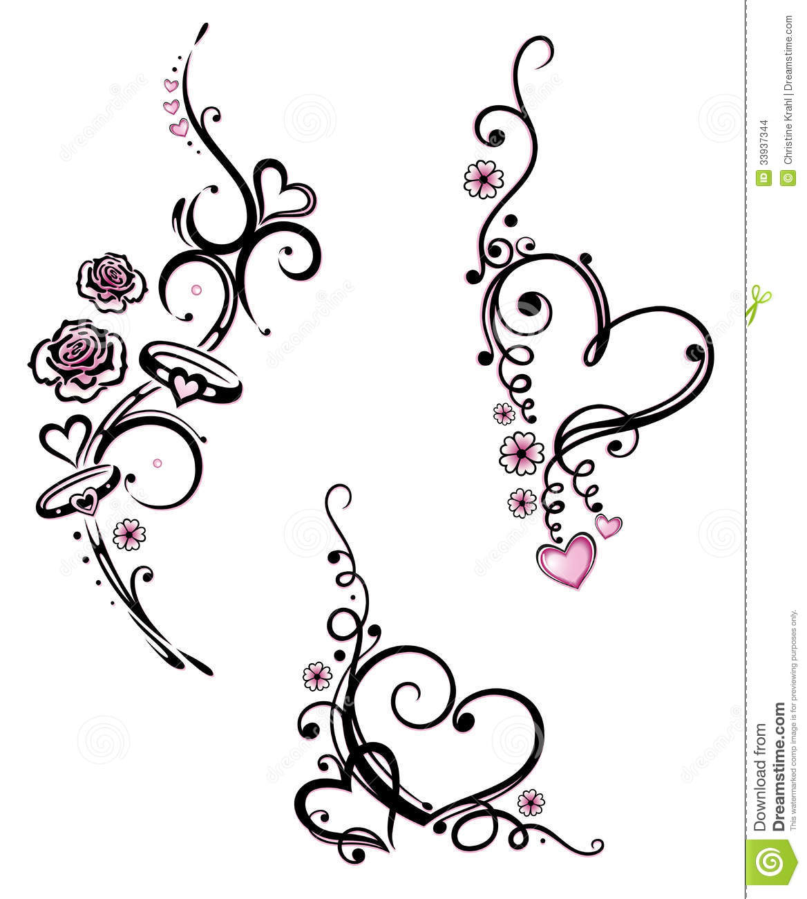 hearts rings wedding stock images image 33937344