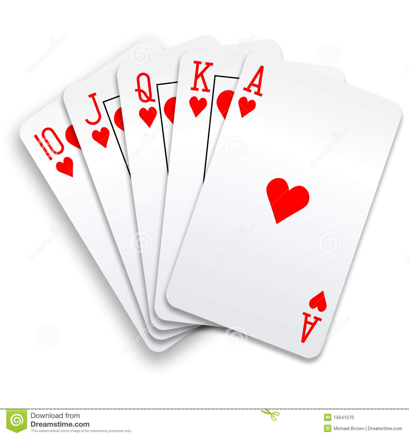 royal flush hands