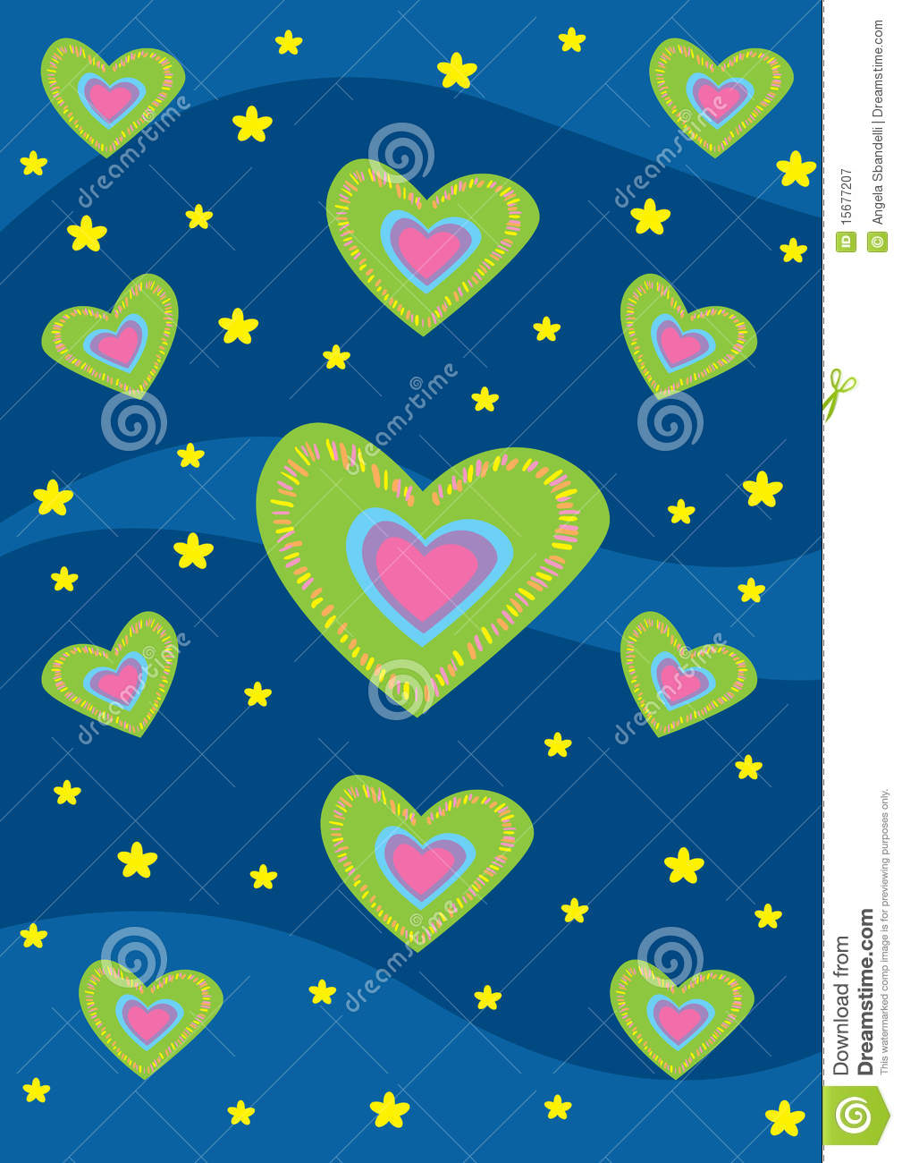 Hearts And Stars Background Texture Royalty Free Stock ...