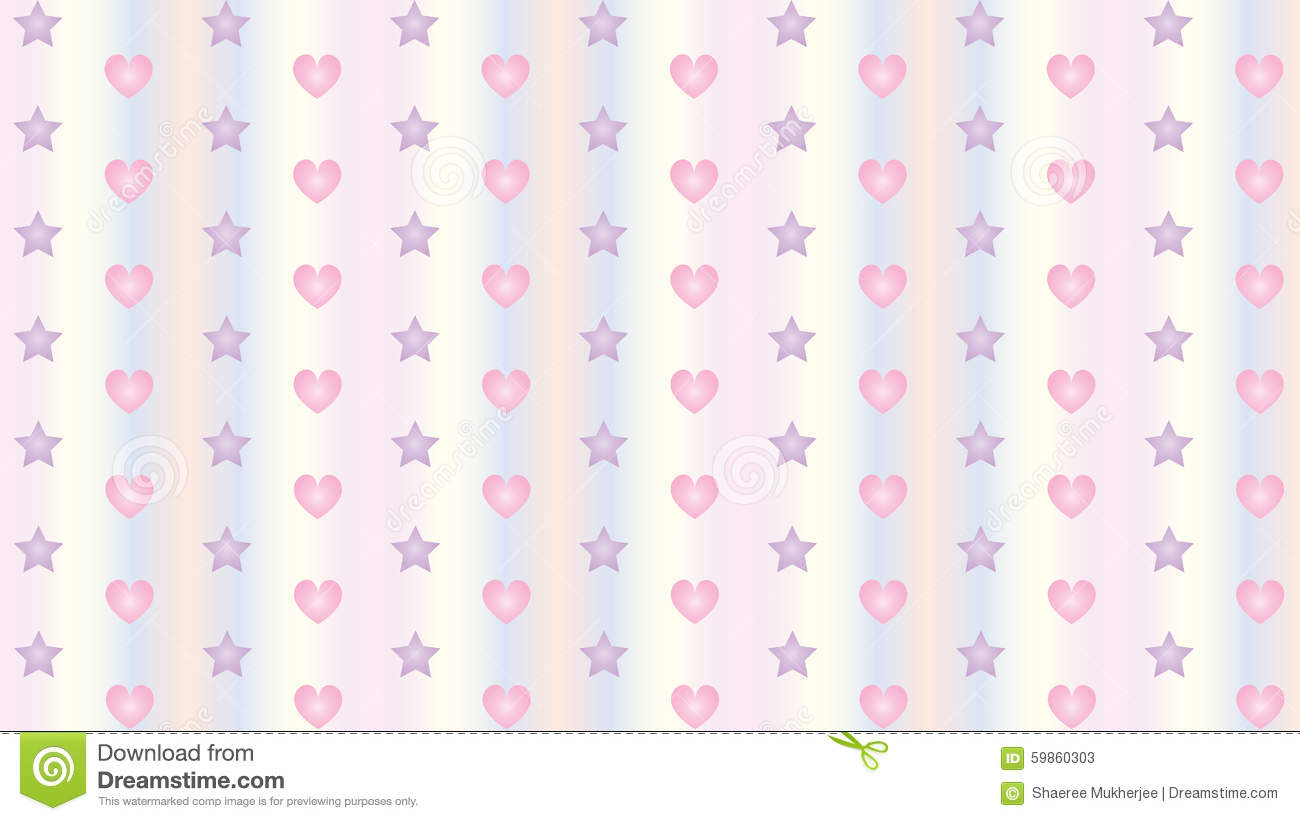 hearts and stars background wallpaper stock vector - illustration of
