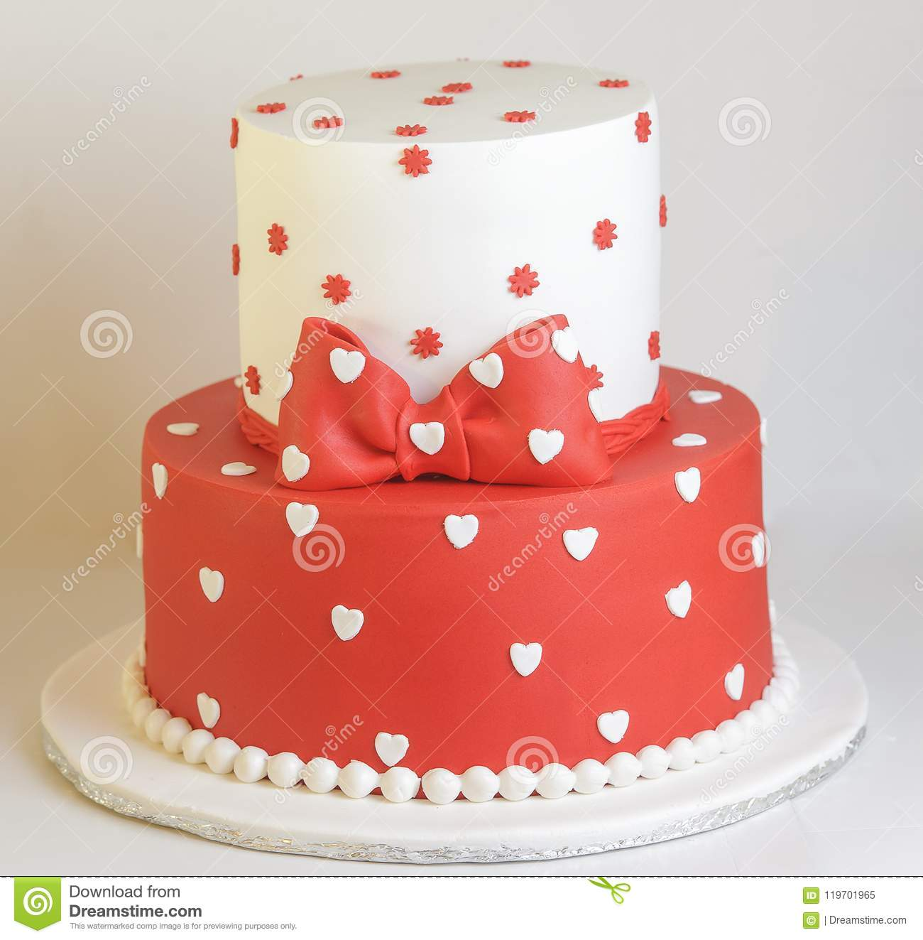 Admirable Hearts And Stars Birthday Cake Stock Image Image Of White Tier Funny Birthday Cards Online Aeocydamsfinfo