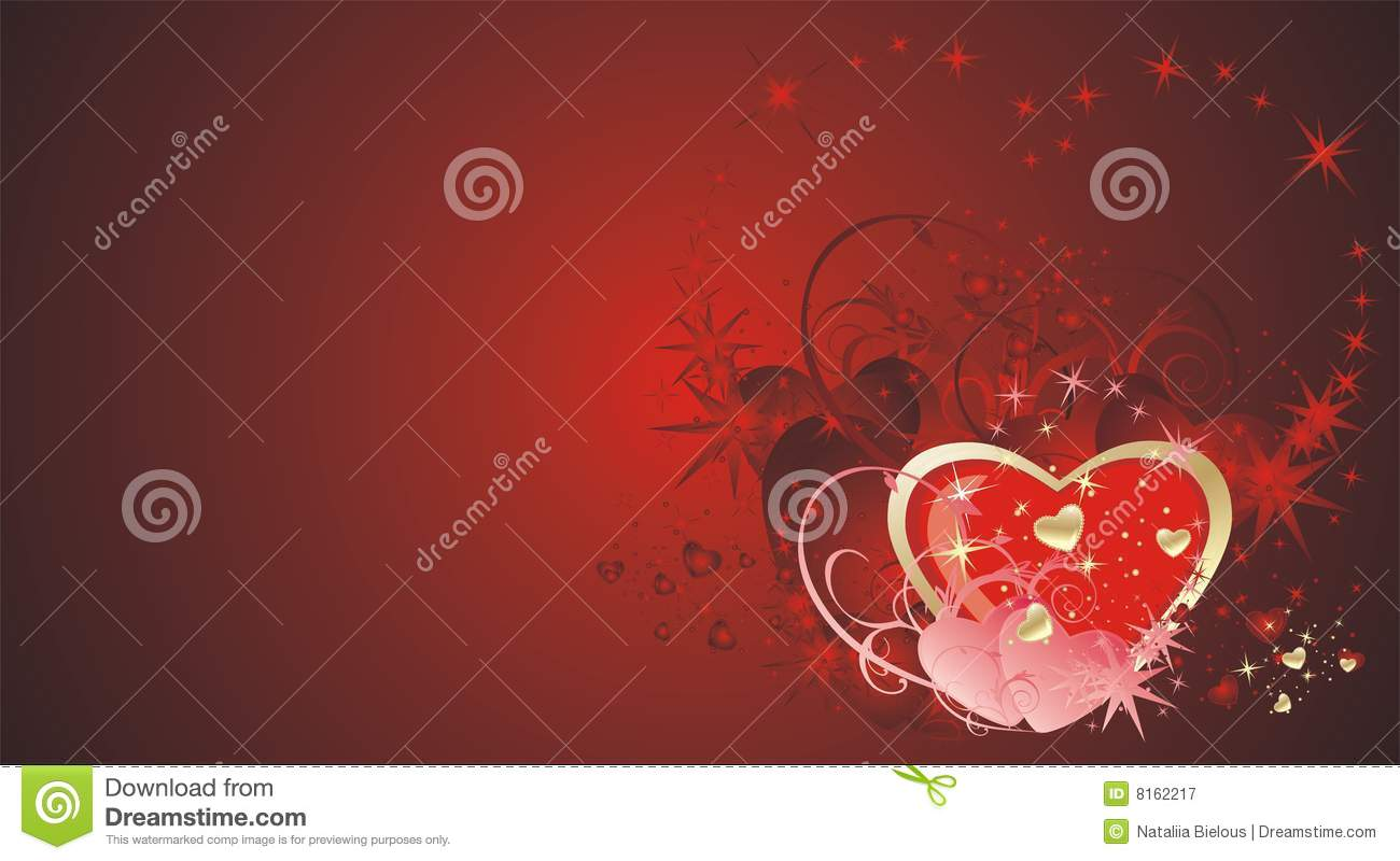 Hearts And Stars. Decorative Background Royalty Free Stock ...