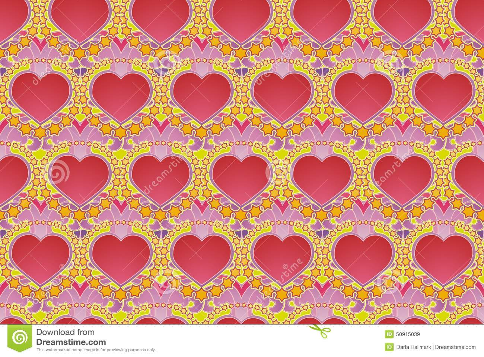 hearts and stars wallpaper stock illustration. illustration of