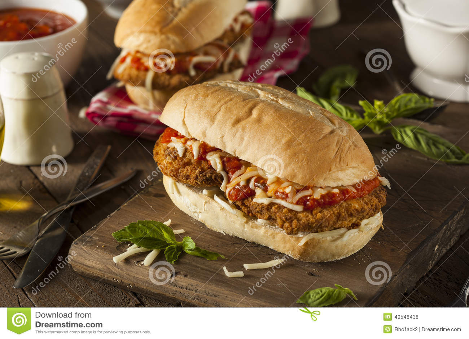 Parmesan Chicken Sandwich Fast Food