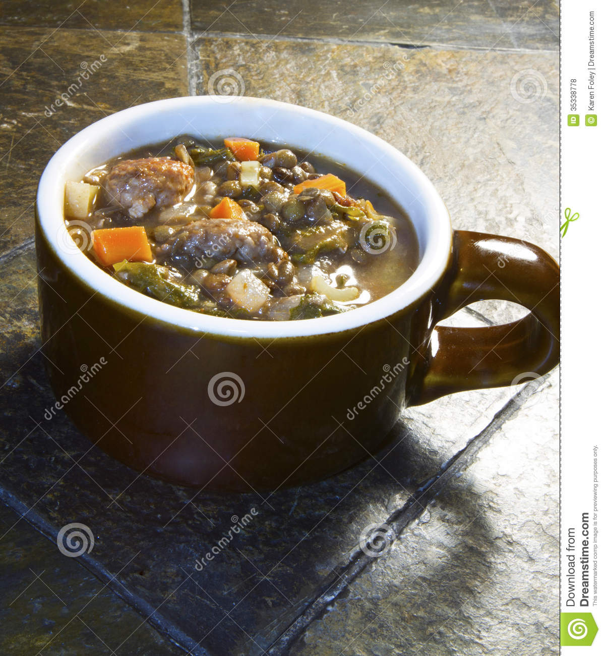 Lentil Soup With Italian Sausage And Escarole Recipe — Dishmaps
