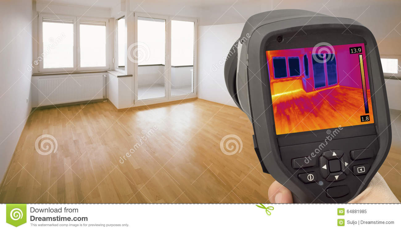 Heat Leak Infrared Detection Stock Photo Image 64881985